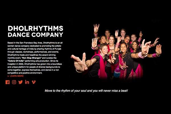 Dholrhythms – Web Design